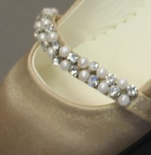 Jeweled LDS Baptism Shoe Strap