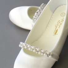 Gardenia Detailing Baptism Girls Shoes