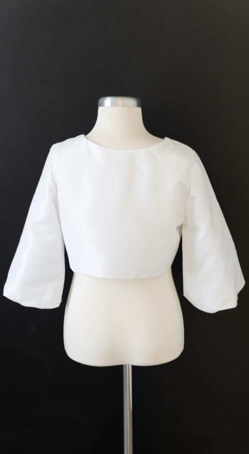 White Satin LDS Baptism Jacket