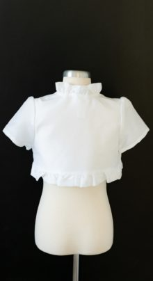 Girls White LDS Baptism Jacket