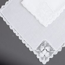 Laced Hankie LDS Temple Boarder