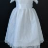 White Lace LDS Baptism Dress