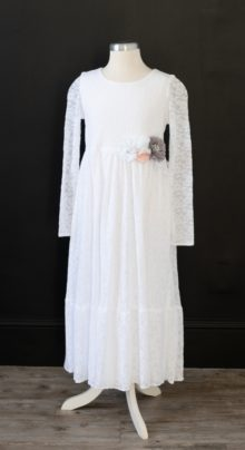 Long Lace Baptism Dress LDS