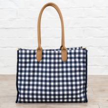 Blue and White Temple Tote