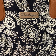 LDS Temple Tote Blue Paisley