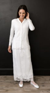 Elegant LDS Temple Dress Getting Positive Reviews - The Belfast Set