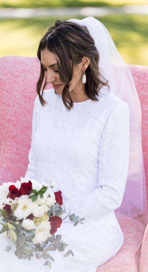 Holland - Modest Lace Wedding Dress High Neck