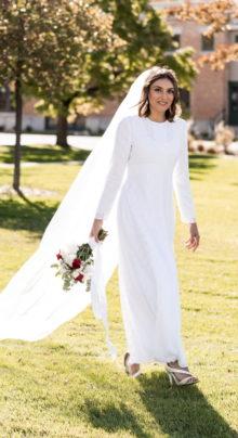 Holland - Modest Lace Wedding Dress High Neck - Full Dress