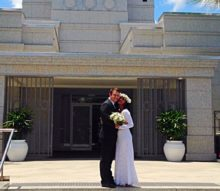 Venice Bridal Dress - Affordable & Modest Lace Wedding Dress - LDS Temple Photo
